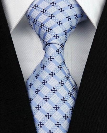 Hedvábná kravata modrá NT0150