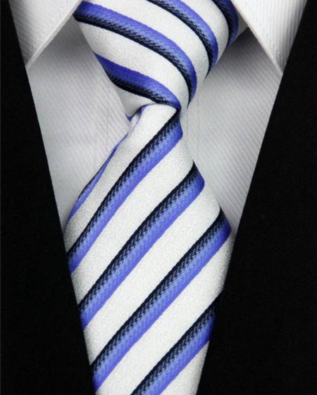 Hedvábná kravata modrá NT0151