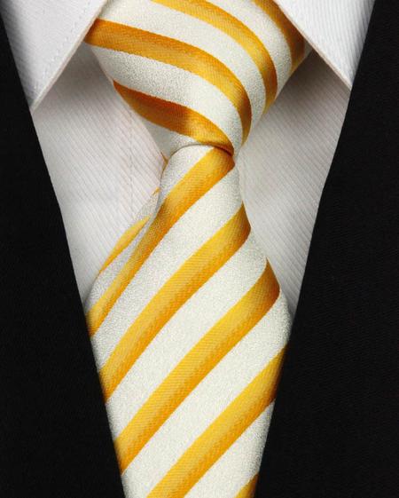 Hedvábná kravata žlutá NT0173