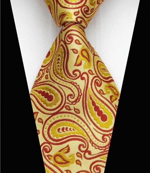 Hedvábná kravata zlatá GZ095