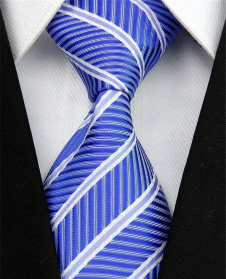 Hedvábná kravata modrá NT0009