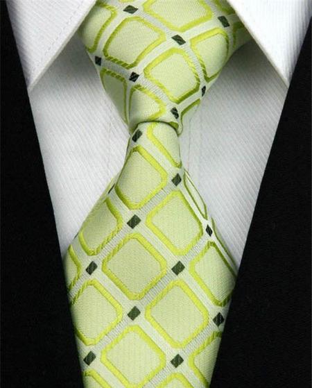 Hedvábná kravata zelená NT0011