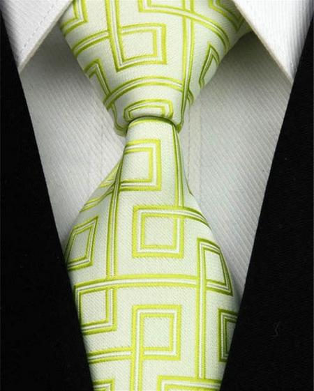 Hedvábná kravata zelená NT0015