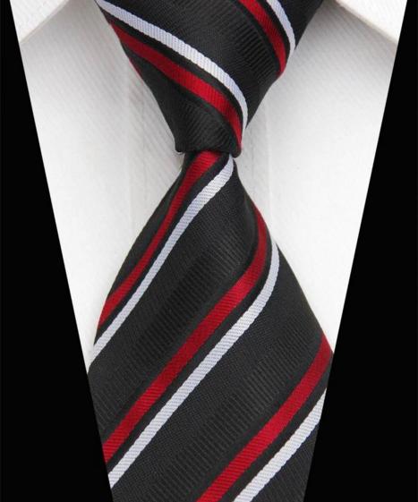 Hedvábná kravata černá NT0490