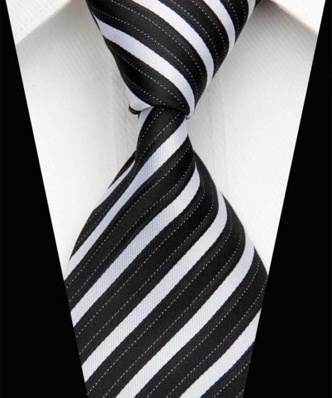 Hedvábná kravata černá NT0526