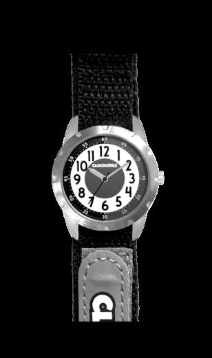 Černé reflexní dětské hodinky na suchý zip CLOCKODILE REFLEX CWX0020