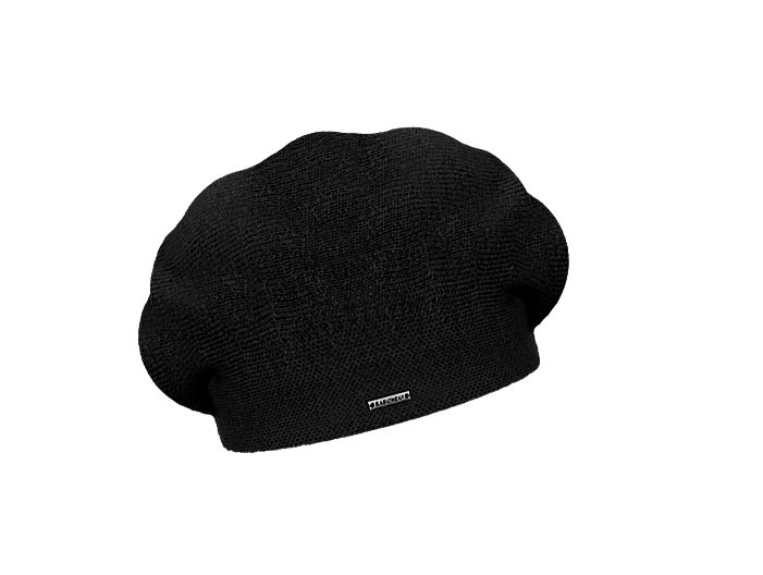 Dámský vlněný pletený baret Manon Black