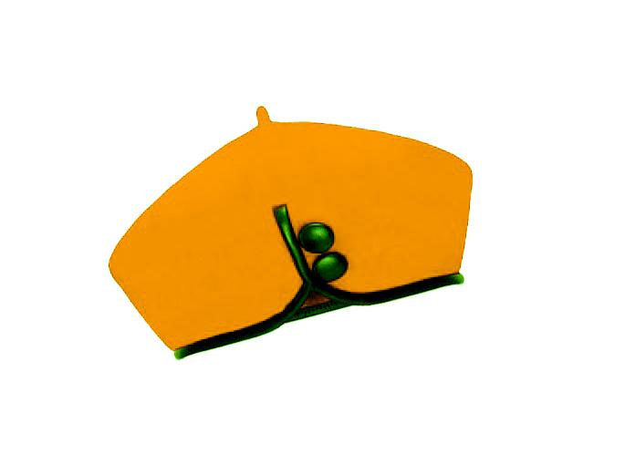 Dámský vlněný baret Catherine Mustard