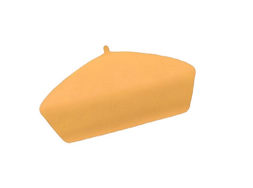 Dámský vlněný baret Alice Mustard