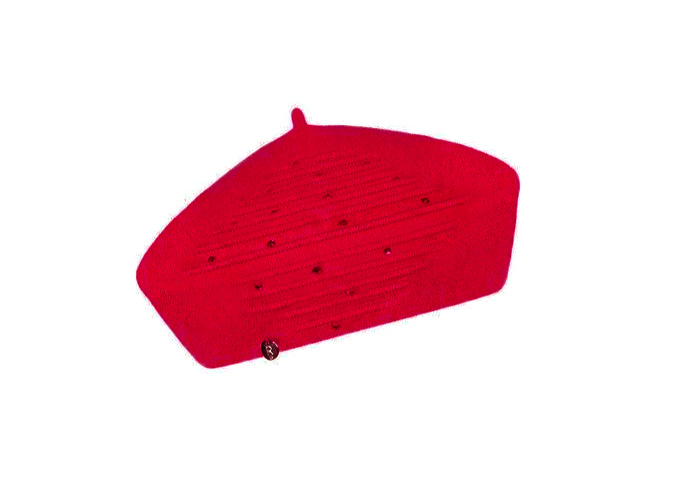 Dámský vlněný baret Nina Red