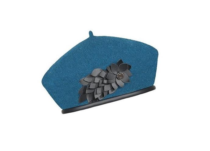Dámský vlněný baret Anne Blue