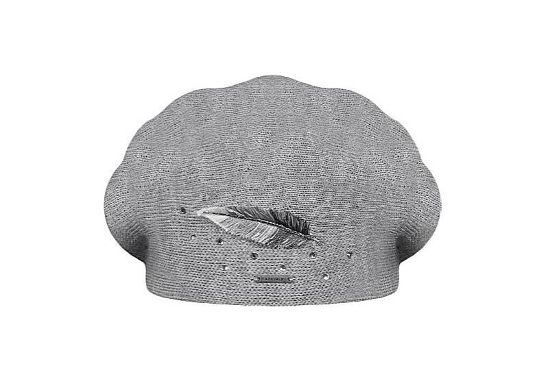 Dámský vlněný pletený baret Inka Grey