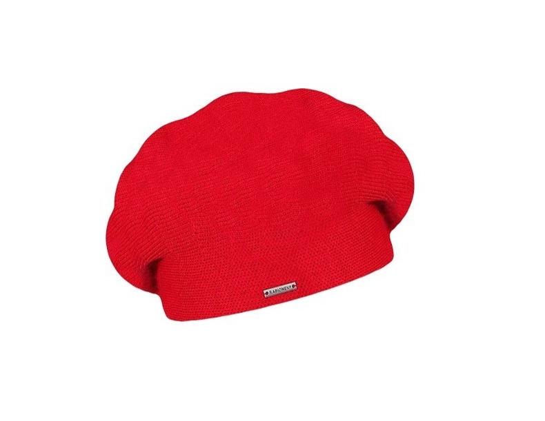 Dámský vlněný pletený baret Manon Red