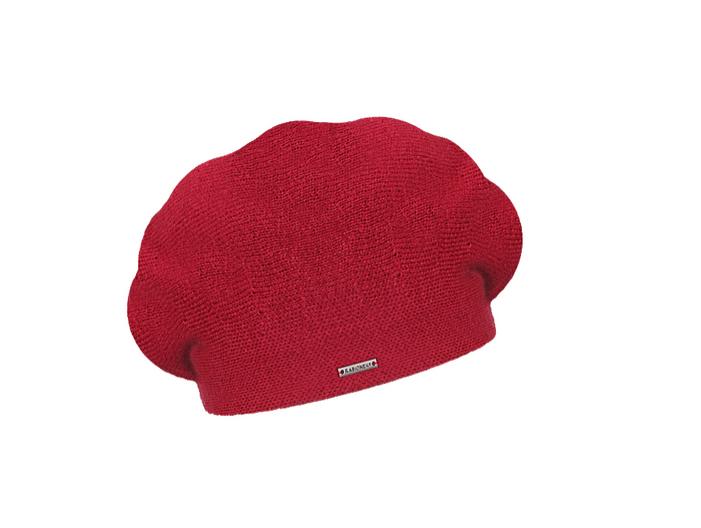 Dámský vlněný pletený baret Manon Dark Red