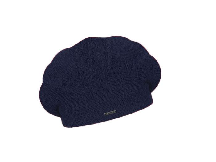 Dámský vlněný pletený baret Manon Dark Blue