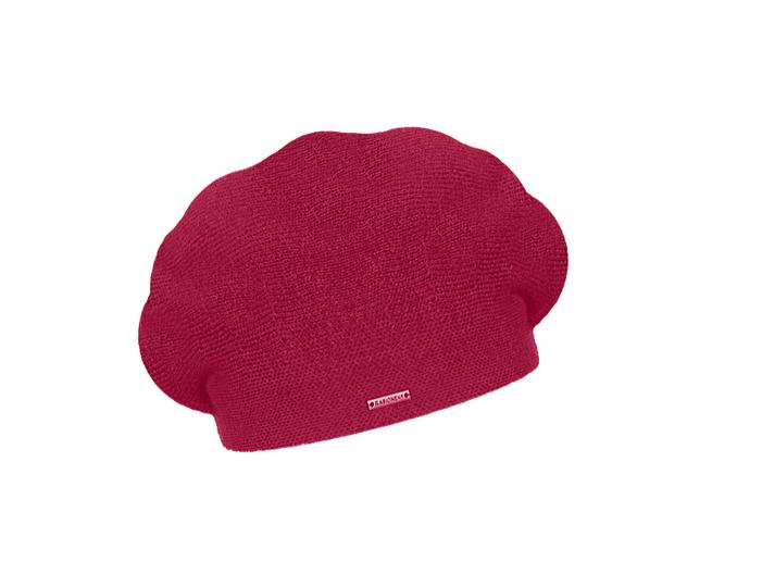 Dámský vlněný pletený baret Manon Fuchsia