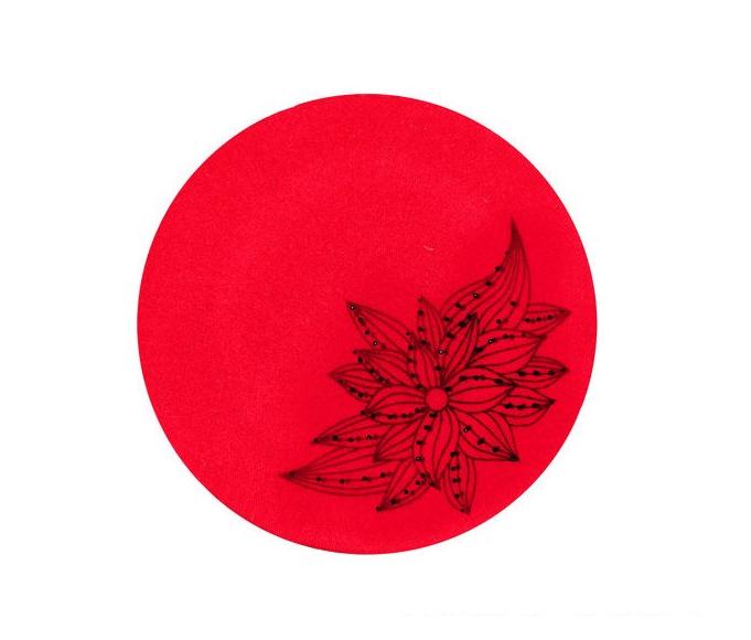 Dámský vlněný baret Fabiola Red