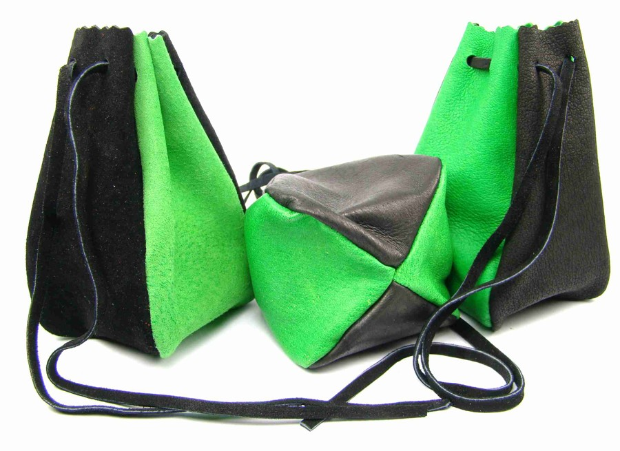 Kožený MAXI měšec zelený