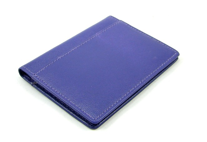 Pouzdro na karty fialové