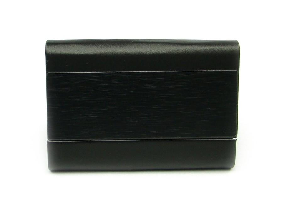 Pouzdro na karty z kovu černé