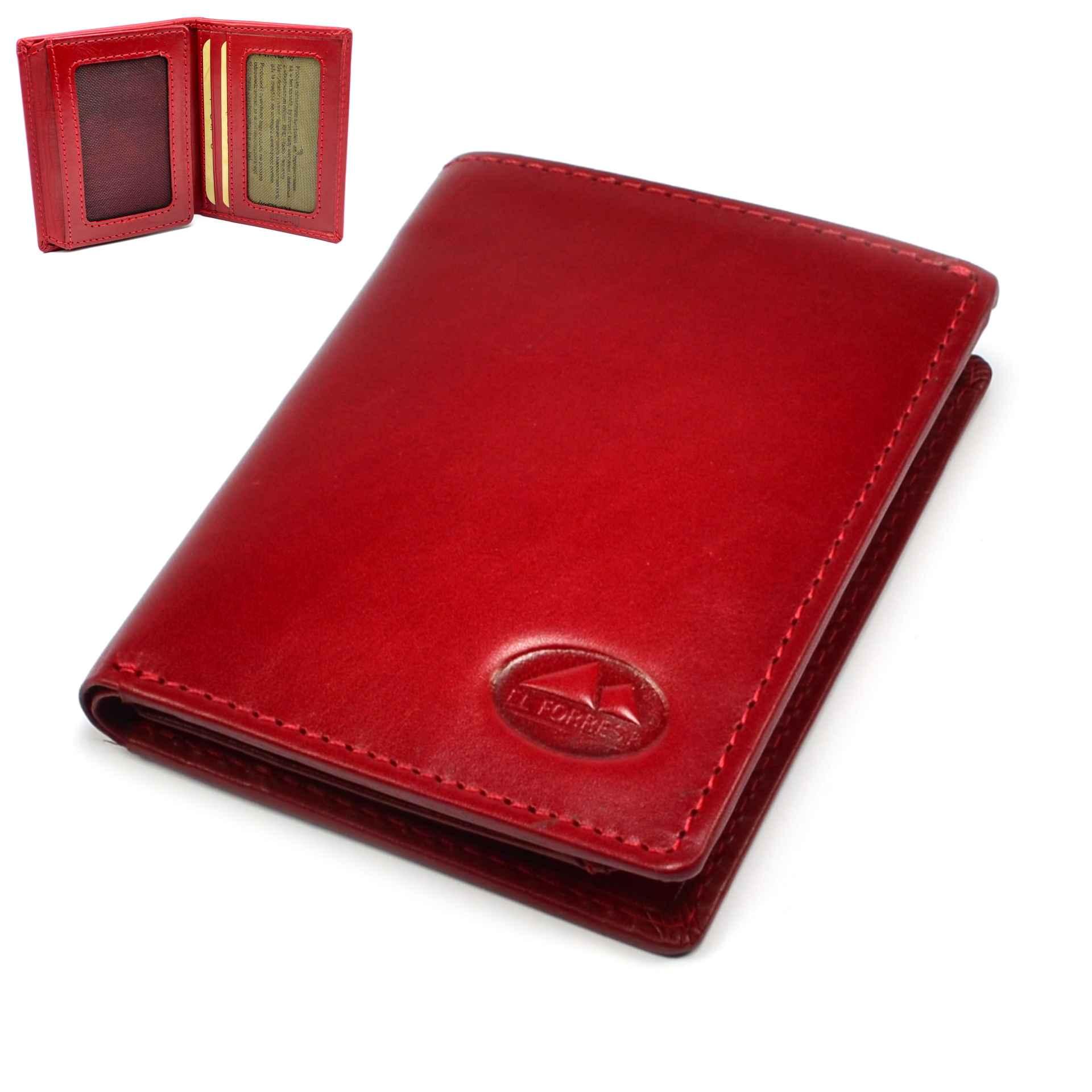 Pouzdro na platební karty nebo vizitky červené
