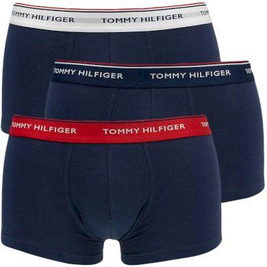3Pack pánské boxerky Tommy Hilfiger Low Rise s barevnou gumou