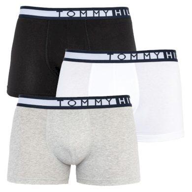 3Pack pánské boxerky Tommy Hilfiger limitovaná edice Black/White/Grey
