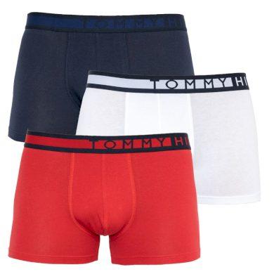 3Pack pánské boxerky Tommy Hilfiger limitovaná edice Red/Blue/White