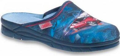 Chlapecké pantofle BEFADO JOGI 708X001 motiv červené auto, modré