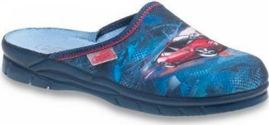Chlapecké pantofle BEFADO JOGI 708Y001 motiv červené auto, modré