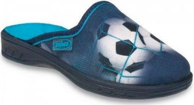 Chlapecké pantofle BEFADO JOGI 707Y381 motiv fotbalový míč, modré