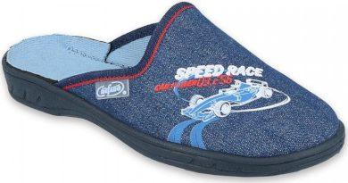 Chlapecké pantofle BEFADO JOGI 707Y403 motiv SPEED RACE formule, modré