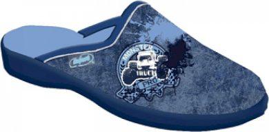 Chlapecké pantofle BEFADO JOGI 707Y396 motiv Monster auto, modré