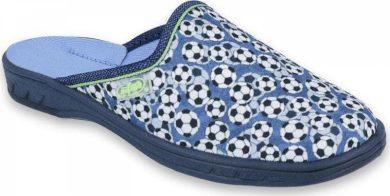 Chlapecké pantofle BEFADO JOGI 707Y399 motiv fotbalové míče, modré