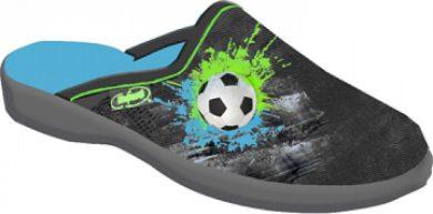 Chlapecké pantofle BEFADO JOGI 707Y395 motiv fotbalový míč, šedé