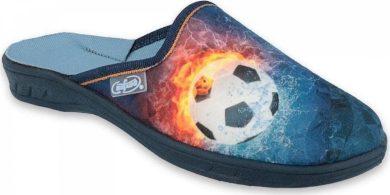 Chlapecké pantofle BAFADO 707Y412 motiv fotbalový míč, modré