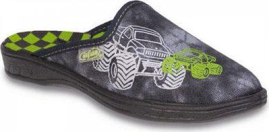 Chlapecké pantofle BEFADO 707X349 motiv Monster Truck, šedé