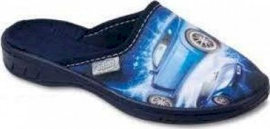 Chlapecké pantofle BEFADO 707X29 motiv auta, modré