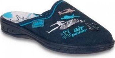 Chlapecké pantofle BEFADO 707X323 motiv letadla, tmavě modré