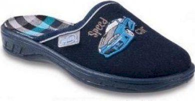 Chlapecké pantofle BEFADO 707X364 motiv auto, tmavě modré