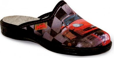Chlapecké pantofle BEFADO 707Y345 motiv auto, barevné