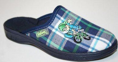 Chlapecké pantofle BEFADO 707X316 motiv chlapec na kole