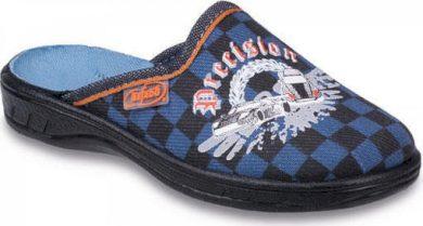 Chlapecké pantofle BEFADO 707X378 kostkované se znakem