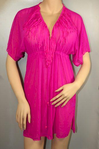 Gabana Pink plážová tunika XL tmavě růžová
