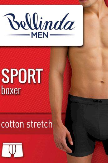 BMEN delší nohavička Sport Bellinda boxerky bavlna -BU858445 M černá