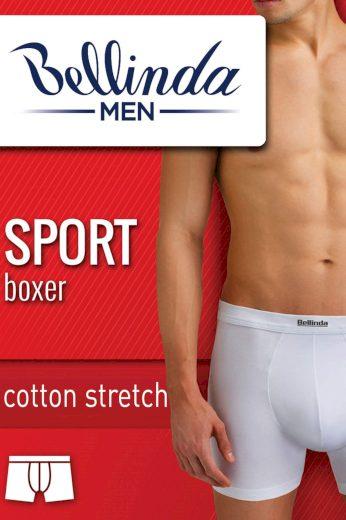 BMEN delší nohavička Sport Bellinda boxerky bavlna -BU858445 XL bílá