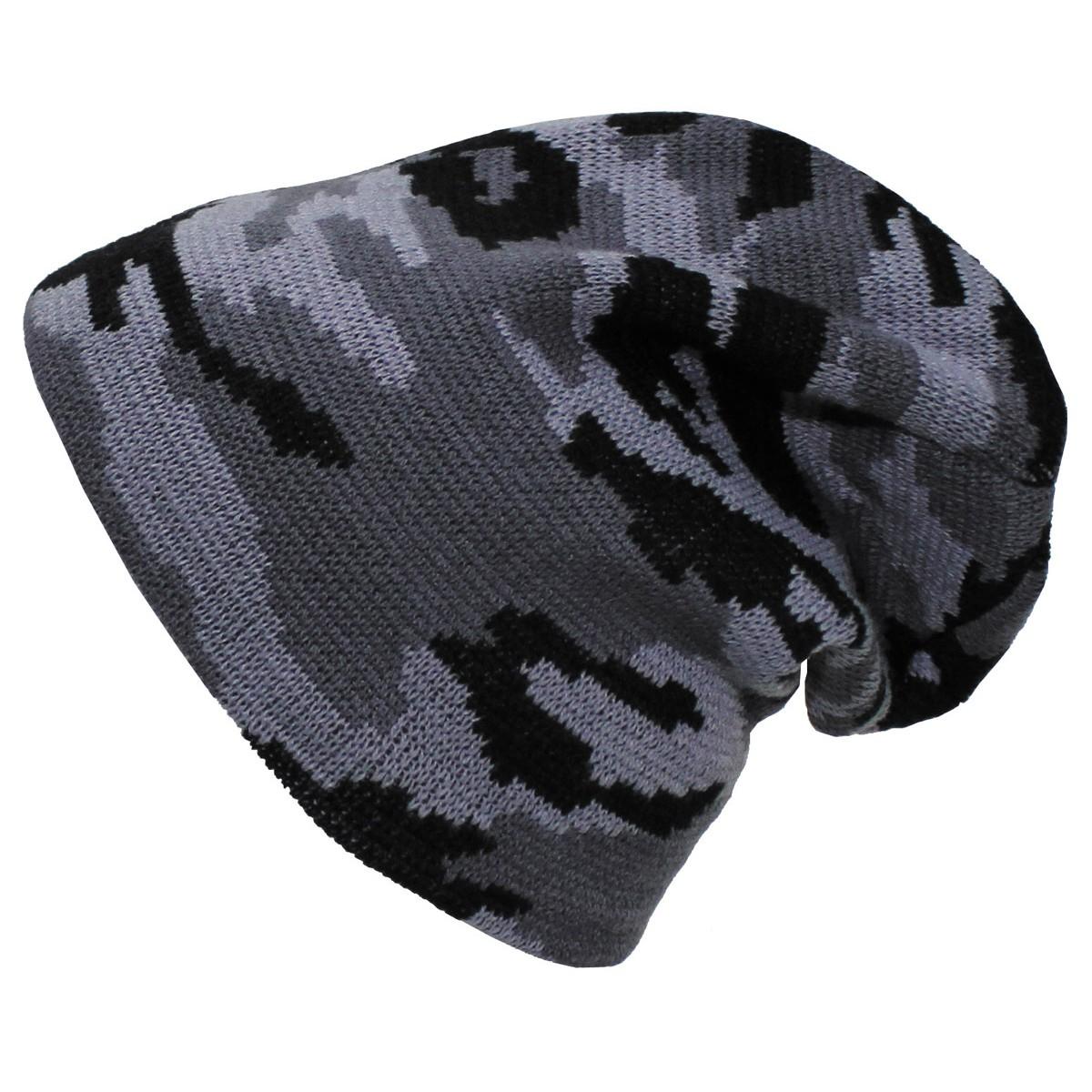 Pletená čepice Beanie extra dlouhá - urban