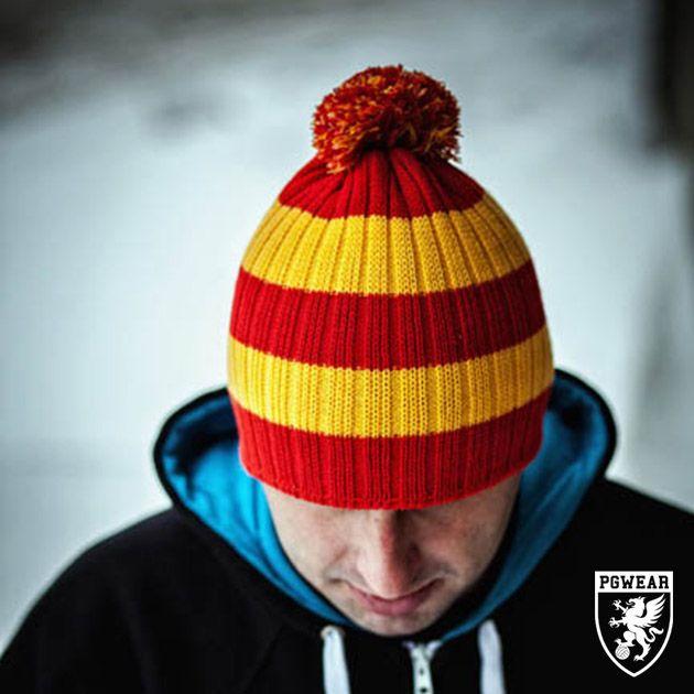 Čepice zimní PGwear Winter 3 - červená-žlutá