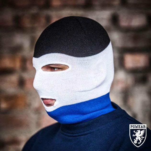 Kukla PGwear Balaclava Classic 10 - černá-modrá-bílá