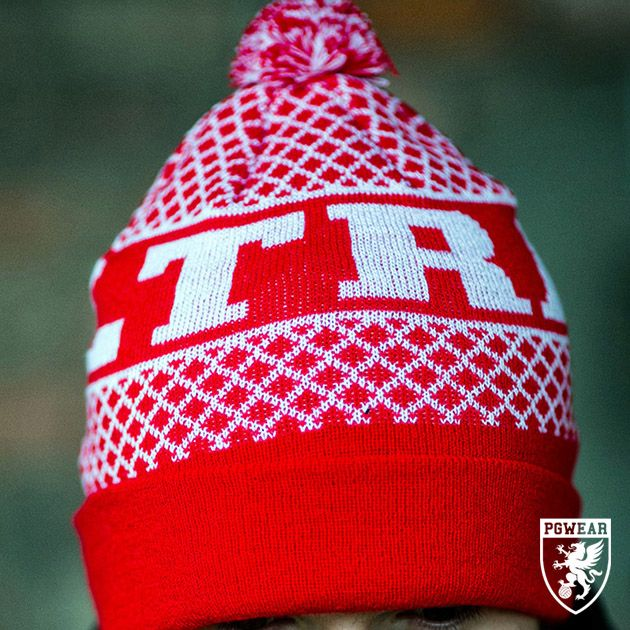Čepice zimní PGwear Ultras RW - červená-bílá